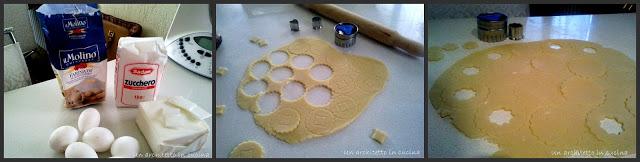 Biscottini di frolla ripieni alla marmellata