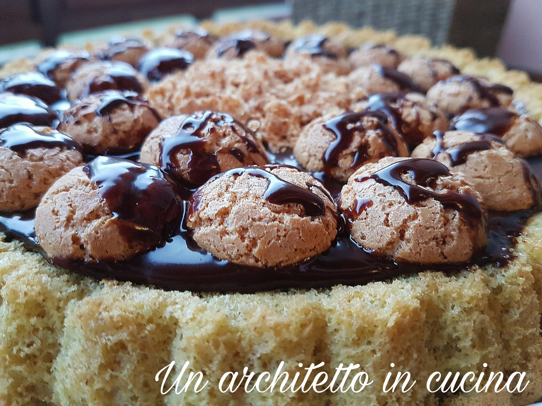 Crostata morbida cioccolato e amaretti