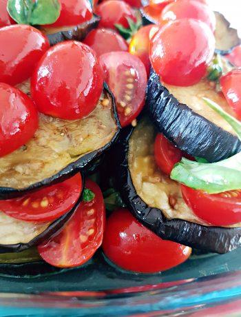 Lasagna di sole verdure: Melanzane e pomodorini freschi