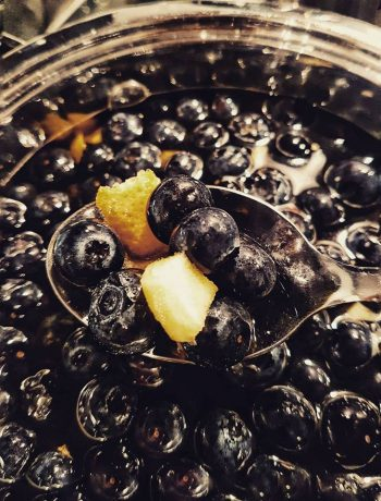 Salsa di mirtilli, zenzero e mandarino
